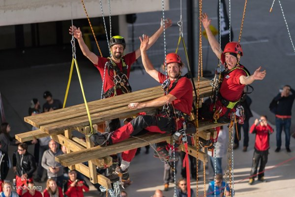 adrenaline alpinistes ouvriers
